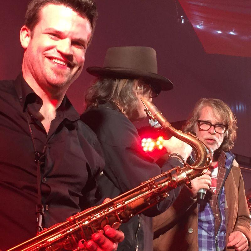 Saxophonaut mit Udo Lindenberg und Helge Schneider